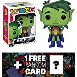 "Beast Boy as Martian Manhunter (Toys ""R"" Us Exclusive): Funko POP! x Teen Titan Go! Vinyl Figure + 1 FREE Official DC Trading Card Bundle (102728)"