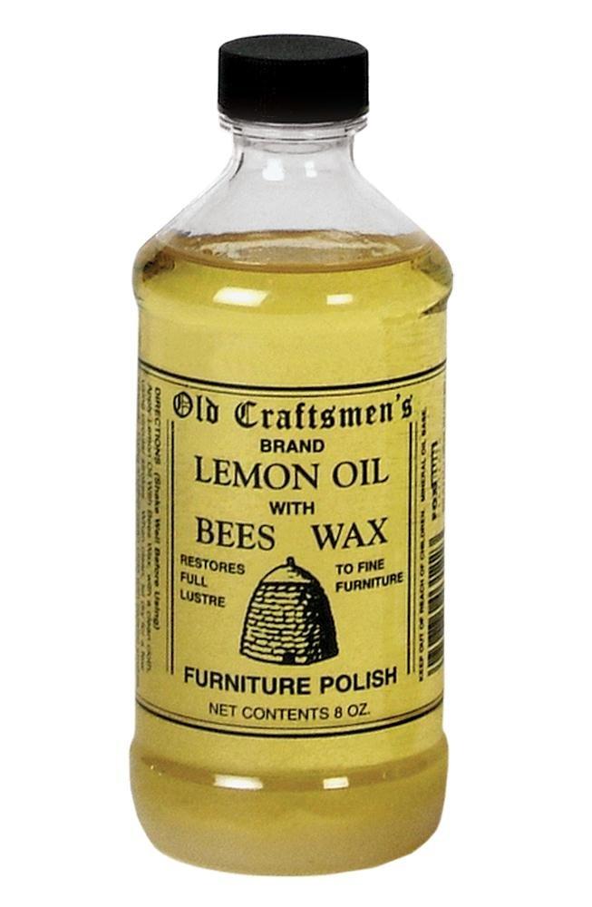 Old Craftsmen's Lemon Oil with Bees Wax Wood Furniture Polish 8oz