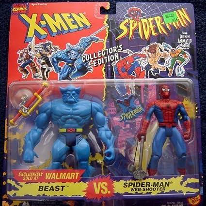 Spider-Man Exclusive Collectors Edition 2-Pack: Beast VS Web-Shooter Spider-Man X-Men VS