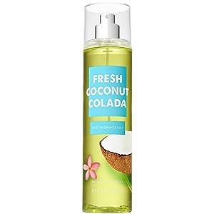 Bath and Body Works Fresh Coconut Colada Fine Fragrance Mist 8 Fluid Ounce (2018 Edition)