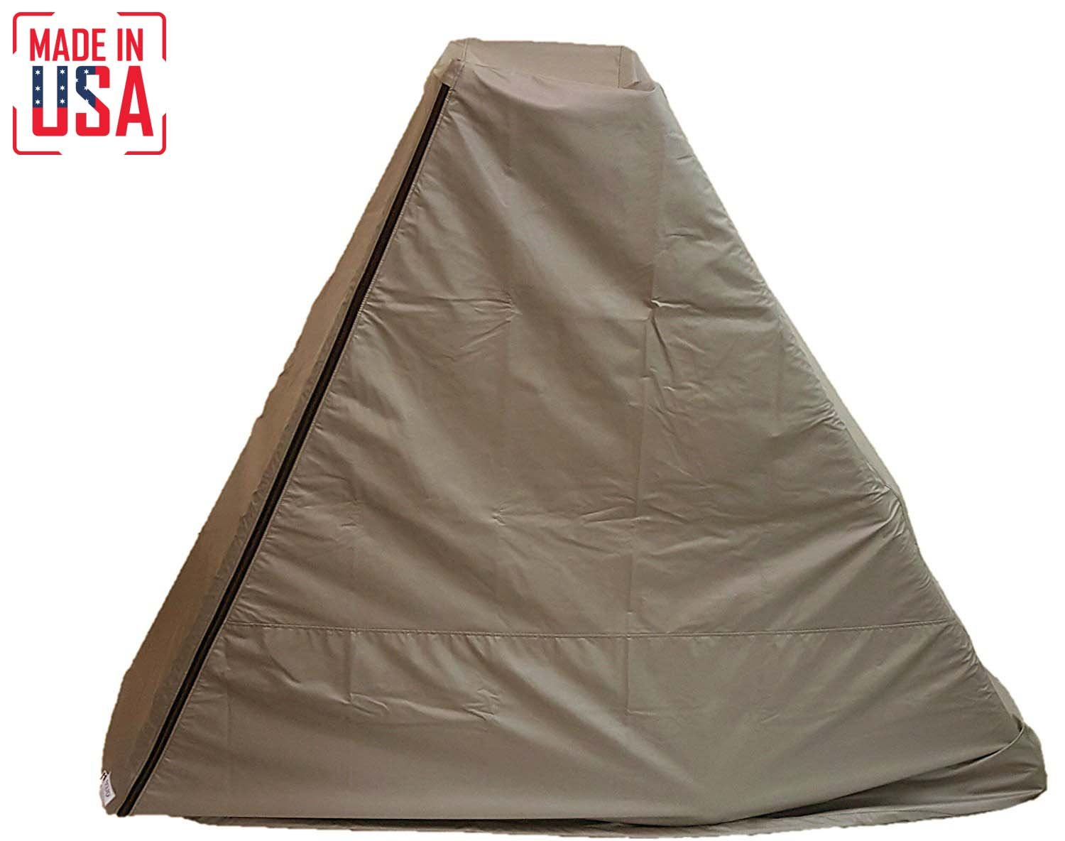 The Best Elliptical Machine Cover | Front Drive. Heavy Duty Fitness Equipment Protective Covers Ideal for Indoor or Outdoor Use. Made in USA with 3-Year Warranty. (Tan, Medium)
