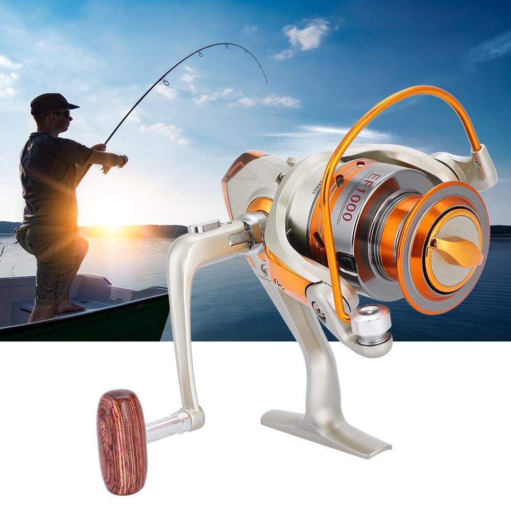 Tbest Carrete de Pesca Rueda de Pesca Spinning Fishing Reel 12BB Carrete de Pesca Giratoria de Agua Salada Oceano Mar Bote Carrete de Pesca en Hielo Trolling Metal EF500-9000