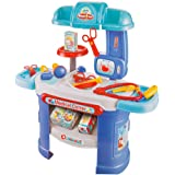 COLORTREE Children Pretend Medical Toy Doctor Kit Dentist Playset