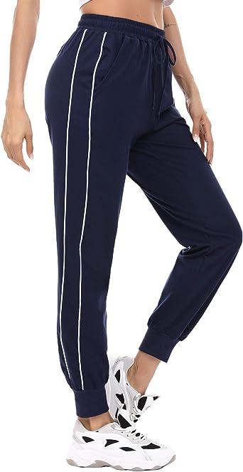 Akalnny Algodón Pantalones de Chándal para Mujer Pantalones de Deporte Pantalones de Jogging Gimnasia Entrenamiento: Amazon.es: Ropa y accesorios