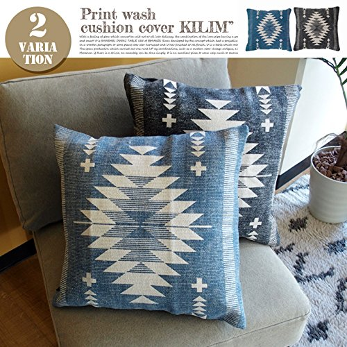 西海岸クッション PRINT WASH CUSHION COVER KILIM