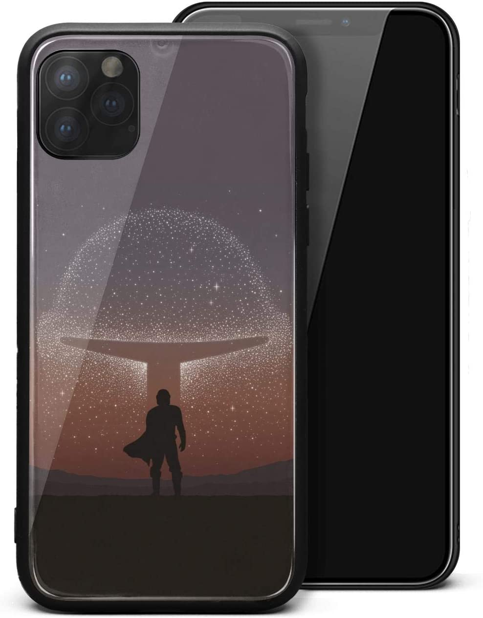 Amazon Com Printted Phone Case For Iphone 11 Pro The Mandalorian Poster Wallpaper Unisex Cool Tempered Glass Black Anti Scratch Tpu Rubber Bumper Shock Skin Back Cover