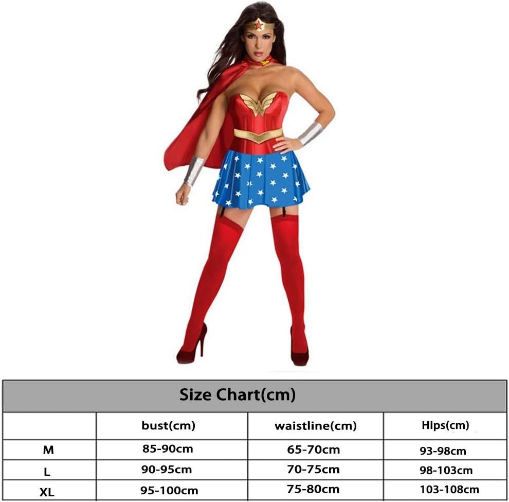 QQWE Wonder Woman Cosplay Superwoman del Super héroe del Combate ...