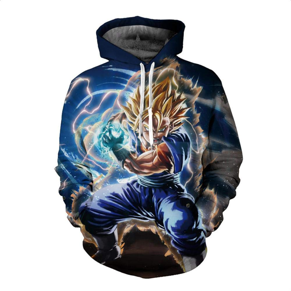 Amazon.com: HOOSHIRTA 2019 New Men Dragon Ball Hoodie 3D Hooded Sweatshirts Kids Goku Super egeta Boy Cartoon Pullover Outwear Sudadera Hombre,6,XXL: Sports ...