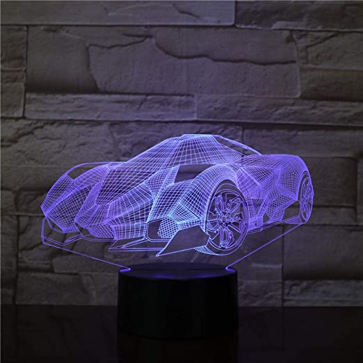 3D Luz Nocturna, Concept Car Super Fast, Luz De Noche Led ...