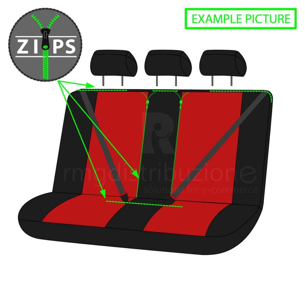 sedili Posteriori sdoppiabili Colore Nero Grigio R18S1011 bracciolo Laterale compatibili con sedili con airbag rmg-distribuzione Coprisedili per XC40 Versione 2017 - in Poi