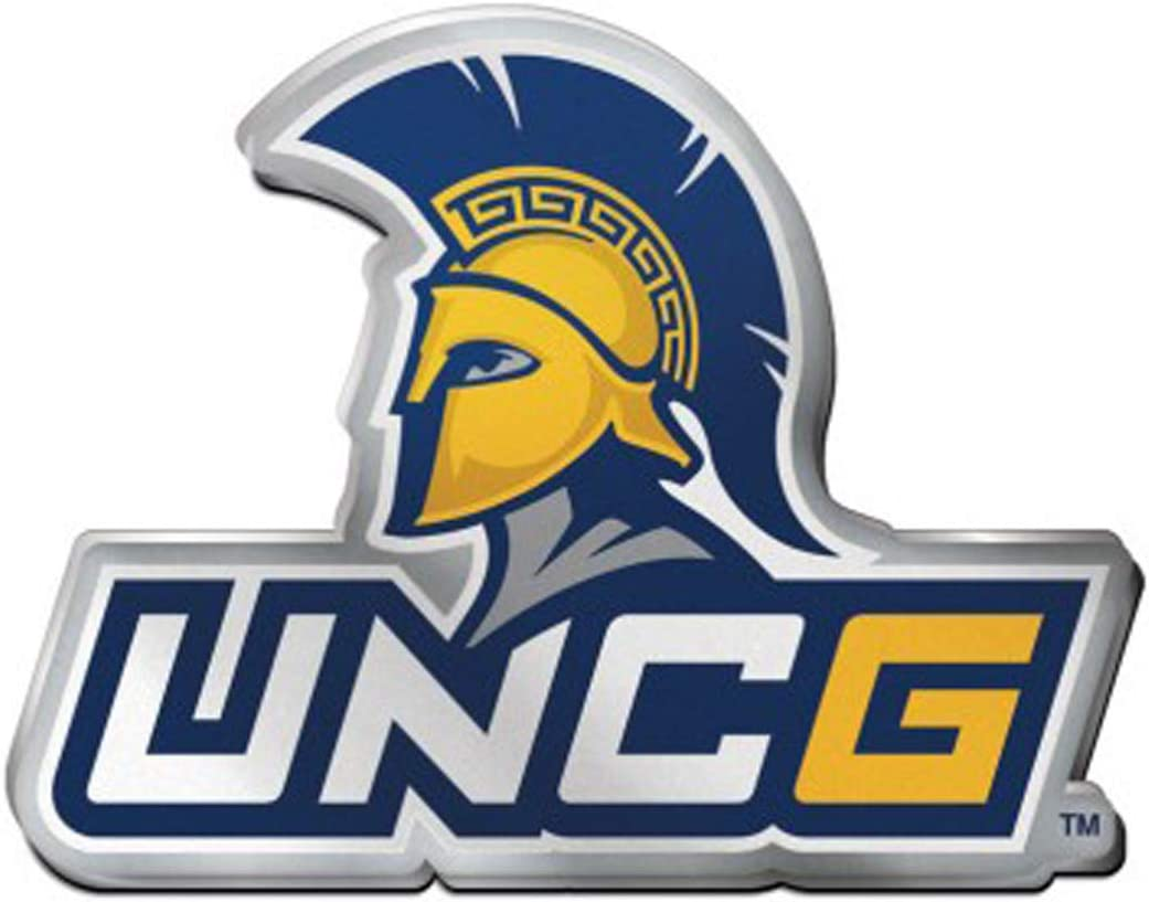 Hard Thick Acrylic WinCraft UNC Greensboro Spartans Logo Auto Badge Emblem