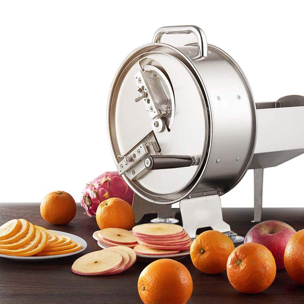 Li Bai Potato Slicer Machine Commercial Grade Cutter Food Vegetable Fruit Multi-Function Stainless Steel Adjustable Slice Thickness High Volume Industrial Kitchen Use by Li Bai