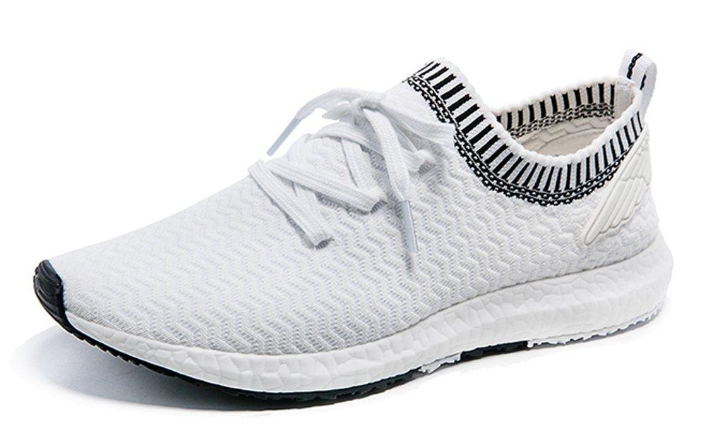 ONEMIX Zapatillas de Running de Competición de Material Sintético Adultos Unisex 44 EU|Blanco/Negro