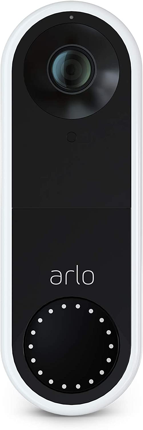 Arlo Video Doorbell | HD Video Quality, Weather-Resistant, 2-Way Audio | Motion Detection and Alerts | Easy Installation (Existing Doorbell Wiring Required) | (AVD1001)