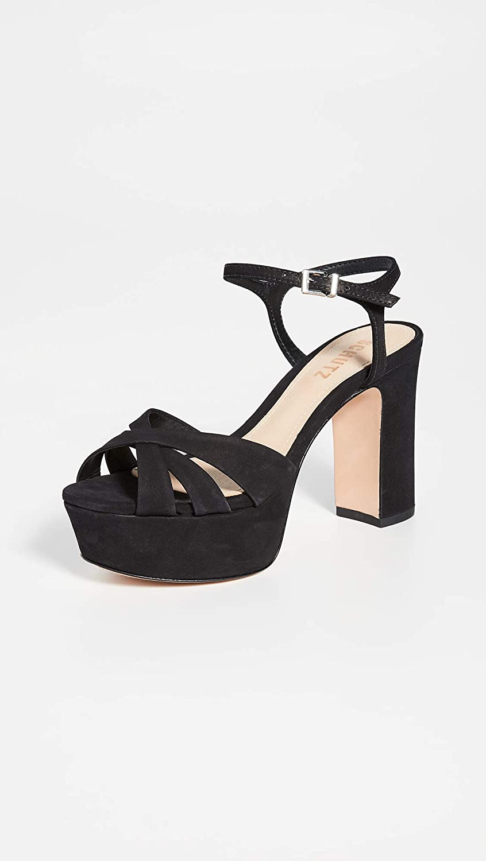 Schutz Womens Keefa Platform Dress Sandal/… 6, Black