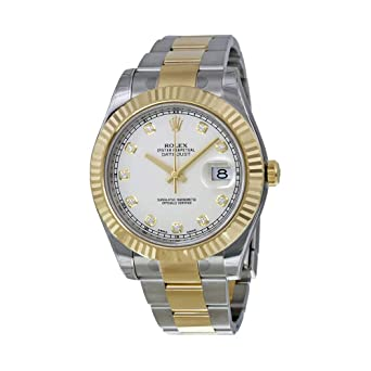 79d8e3b2b7e Rolex Datejust II Ivory Diamond Dial Stainless Steel With 18kt Yellow Gold  Mens Watch 116333IDO  Amazon.co.uk  Watches