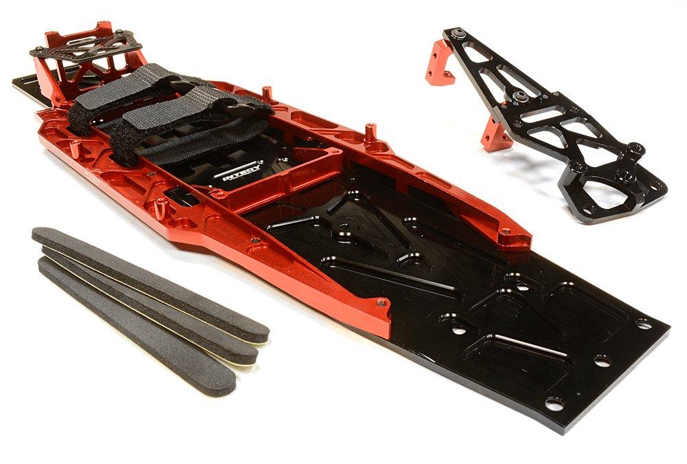 INTEGY RC C26146RED - Kit de conversión de chasis para Traxxas 1/10 Slash 2WD