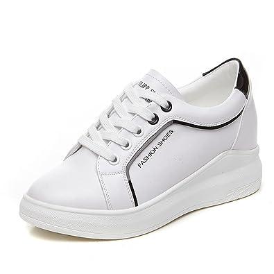 2764991b08c936 JRenok Chaussure Femme Cuir Mode Basket Casual Chaussure de Sport Talon  Compensé Caché: Amazon.fr: Chaussures et Sacs