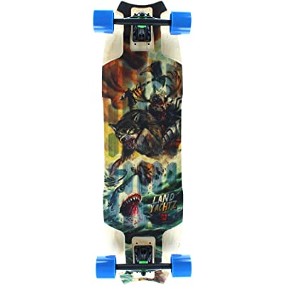"Landyachtz Wolf Shark Complete Skateboard - 10"" x 35.5"" : Sports & Outdoors"