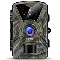 Victure IP66 Wildlife Trail Camera 12MP 1080P HD Infrared Cam with Night Vision 20m and 2.4'' LCD Display for Outdoor and Home Security Surveillance