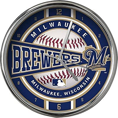 Milwaukee Brewers Chrome Clock by Memory Company