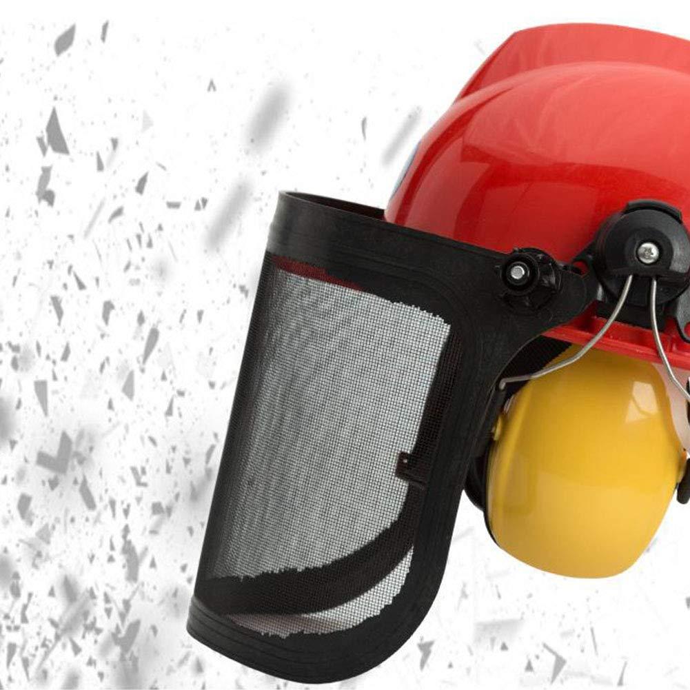 TXYFYP Casco De Seguridad para Motosierra,Casco De Seguridad con Protecci/óN Facial Completa con Visera De Malla Ajustable Y Orejera para Motosierra Jardiner/íA Tala Desbrozadora Forestal