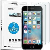 [2 Stück] OMOTON Panzerglas Displayschutzfolie für iPhone 6s und iPhone 6, 9H Härte, Anti-Kratzen, Anti-Öl, Anti-Bläschen, lebenslange Garantie