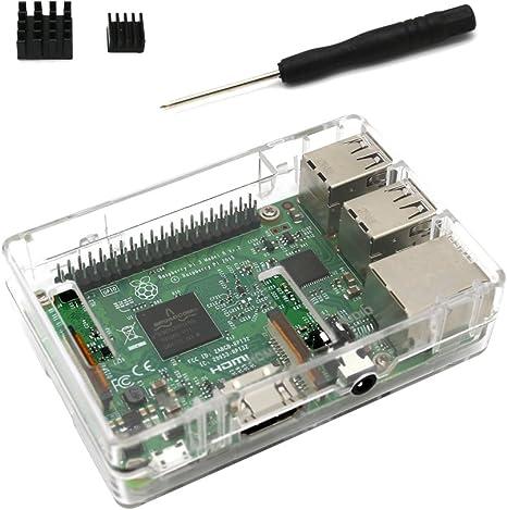 Raspberry Pi 3 B + Funda Transparente Carcasa para Raspberry Pi ...