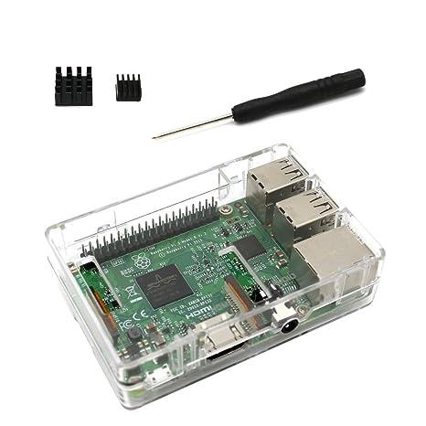 Raspberry Pi 3 B + funda transparente Carcasa para Raspberry ...