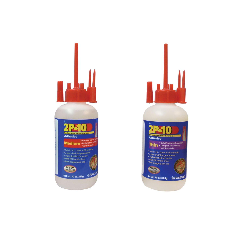 FastCap 80113 2P-10 Medium 10 oz Adhesive with 80116 Thin Super Glue Adhesive by Fastcap (Image #1)
