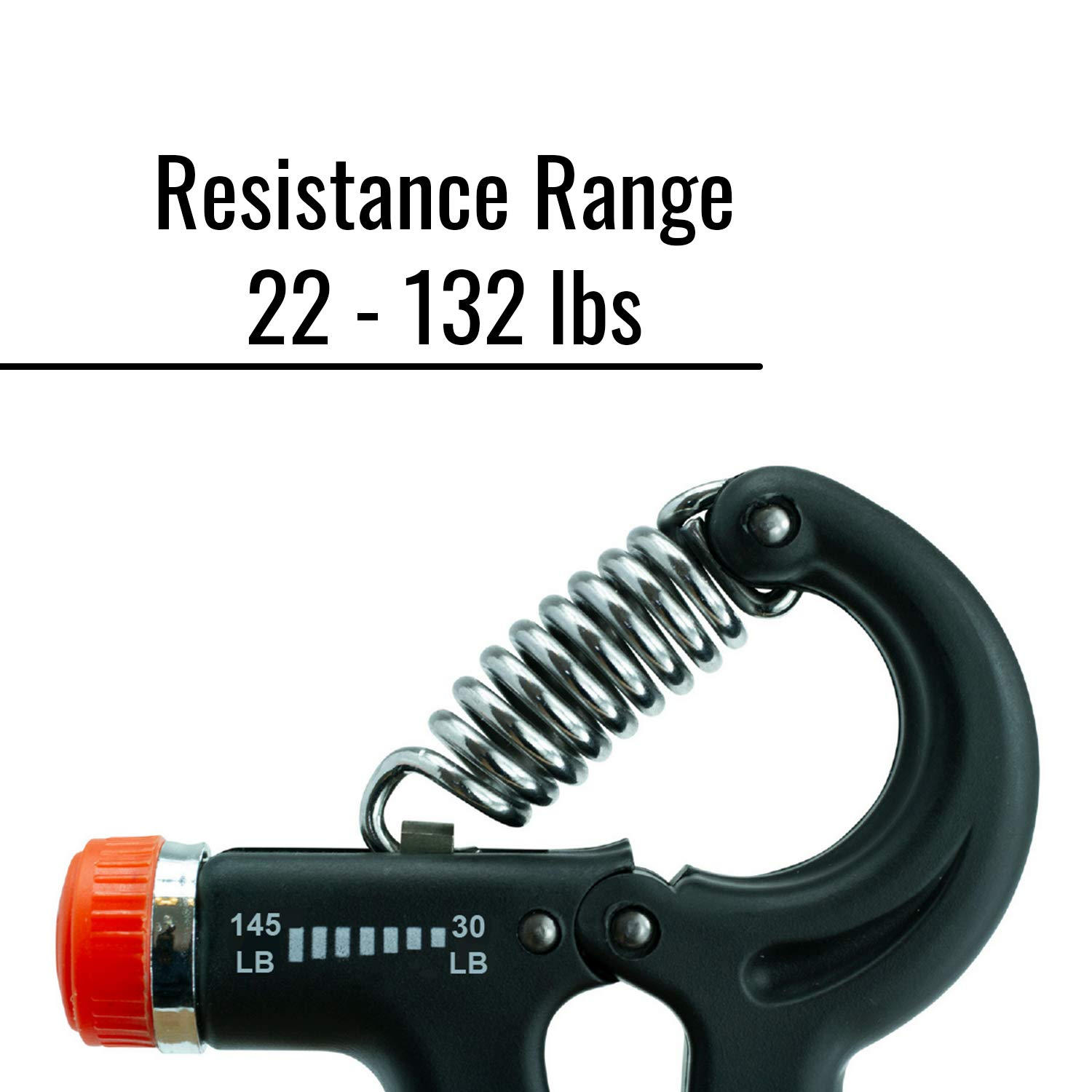 Forearm Workout Wrist Strength Trainer Rock Climbing Squeezer 2 Pack Gripper Exerciser Fingers Non Slip Rubber Crusher Houseables Hand Grip Strengthener w//Adjustable Resistance 22-132 lbs