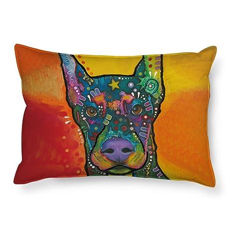 cafetime Funny ganadero australiano perro estándar cama doble lados funda de almohada animales fundas de almohada