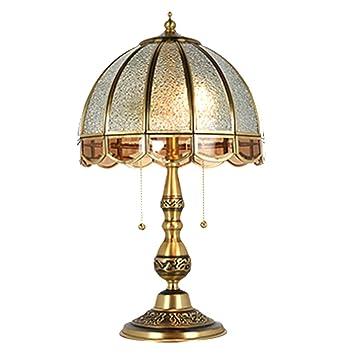 Lámpara de mesa de cobre retro de cobre puro de gama alta ...