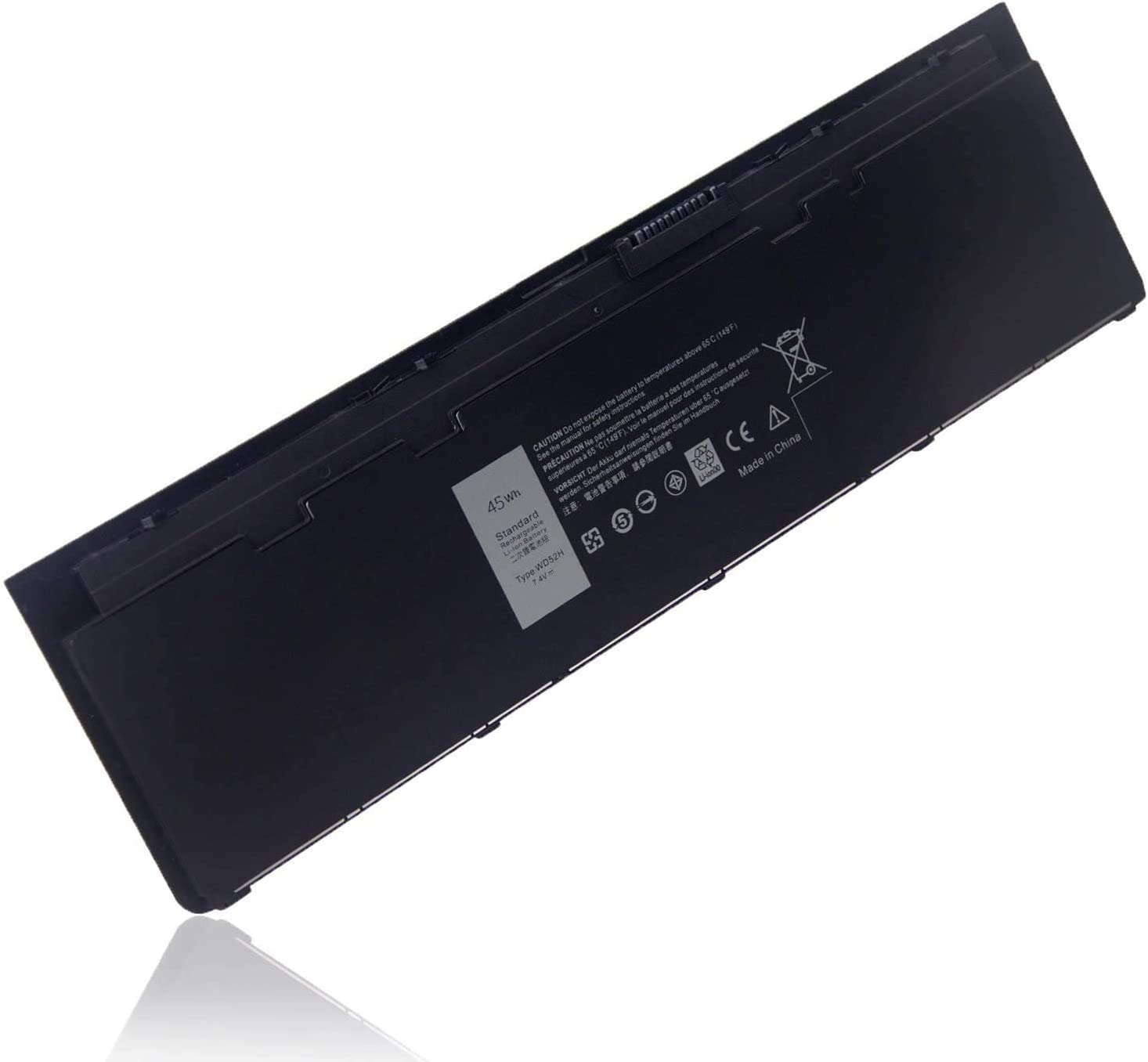 Binger New WD52H Replacement Laptop Battery Compatible with Dell Latitude E7240 KWFFN J31N7 GVD76 HJ8KP 451-BBFW 451-BBFX NCVF0 T440P (7.4V 45wh)