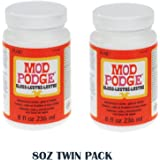 Mod Podge All-In-One Decoupage Sealer / Glue / Finish Modge Podge (8 Oz Gloss Twin Pack)
