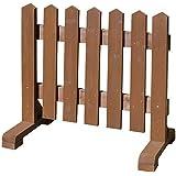 木製 ピケットフェンス -ブラウン- 【受注製作品】 (幅90cm) 犬 目隠し 屋外 飛び出し防止 柵 ガード さく 木製フェンス