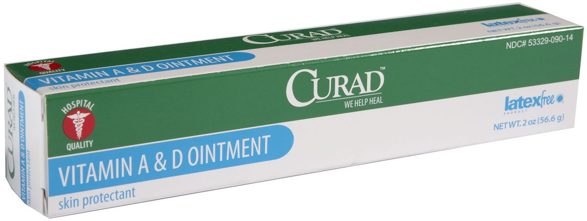 Medline Curad A&D Ointment, (Pack of 12) (2oz Each)