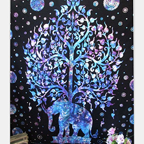 Elephant Mandala Tapestry Bohemian Hippie Indian Dormitory Decorated Common Tapestry Bedroom Living Room Dormitory Curtains Bedspreads, Picnic Mat Beach Towels (59
