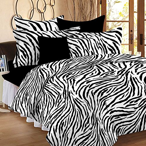 Story@Home Magic 152TC Cotton Double Bedsheet with 2 Pillow Covers – Black Cotton Bedsheets For Double Bed