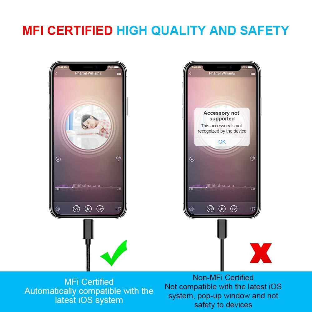 8 Macho a Macho para Conector de Altavoz est/éreo MusicPlayer YUMINE Cable AUX para iPhone Cable de Audio para iPhone Jack de 3.5 mm Cable de Audio avanzado para iPhoneX//XR Blanco y Negro 3Ft 1M