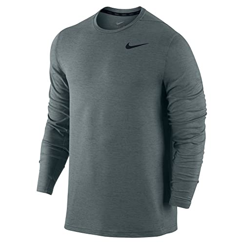 61a0fa8e71 Nike Men's Dri-FIT Training Long Sleeve Shirt, Cool Grey/Black, SM ...