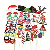 TINKSKY 62pcs New Years Photo Booth Props Funny DIY Favor