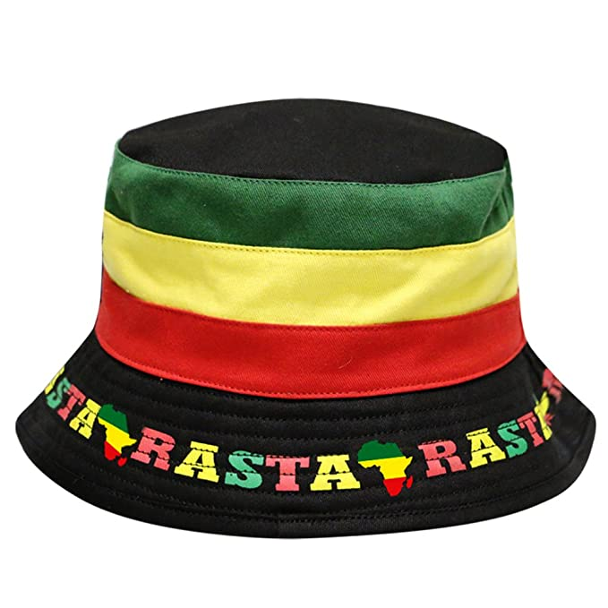 5e6d85f2a4d Image Unavailable. Image not available for. Color  City Hunter Bd1300 Rasta  Jamaican Bucket Hat