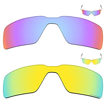 e07c0c01d3 Image Unavailable. Image not available for. Color  Mryok+ 2 Pair Polarized  Replacement Lenses for Oakley Probation Sunglass - Cobalt Rose 24K Gold