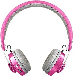LilGadgets Untangled Pro Premium Children's/Kid's Wireless Bluetooth Headphones with SharePort (Pink)
