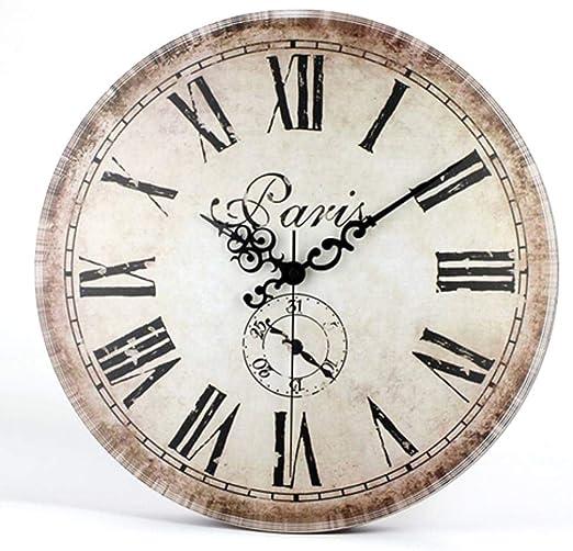 Sizwea Reloj Antiguo diseño Minimalista Reloj de Pared