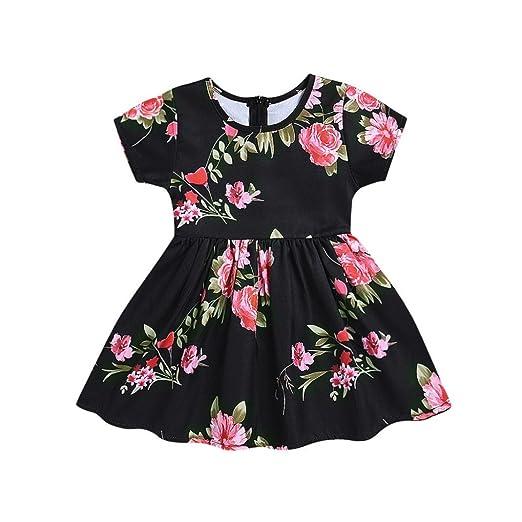 7f3df672a10f8 Amazon.com: Lavany Little Girls Dresses Cute Baby Girl Flower Print ...