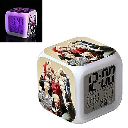 Comtervi Despertador BTS, KPOP Bangtan Boys LED Despertador ...