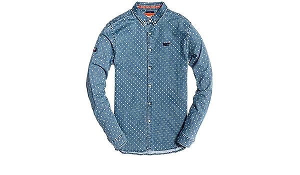 Superdry Camisa Topos Azul Hombre S Azul: Amazon.es: Ropa