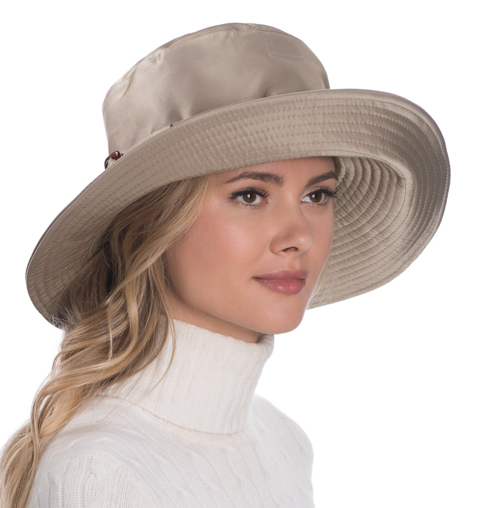 Eric Javits Luxury Fashion Designer Women's Headwear Hat - Kaya - Taupe by Eric Javits